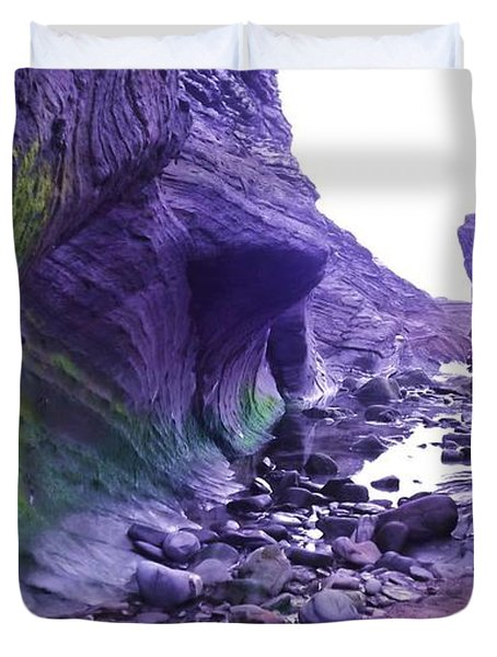 Duvet Cover featuring the photograph Swirl Rocks by John Williams