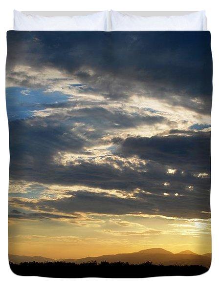 Duvet Cover featuring the photograph Swirl Sky Landscape by Matt Harang