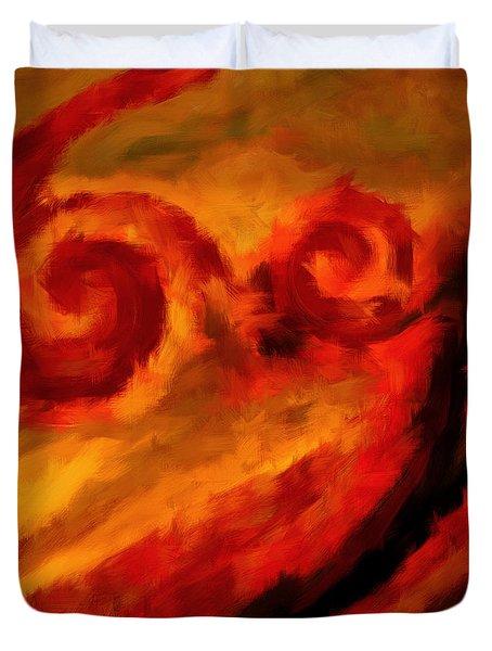 Swirling Hues Duvet Cover by Lourry Legarde