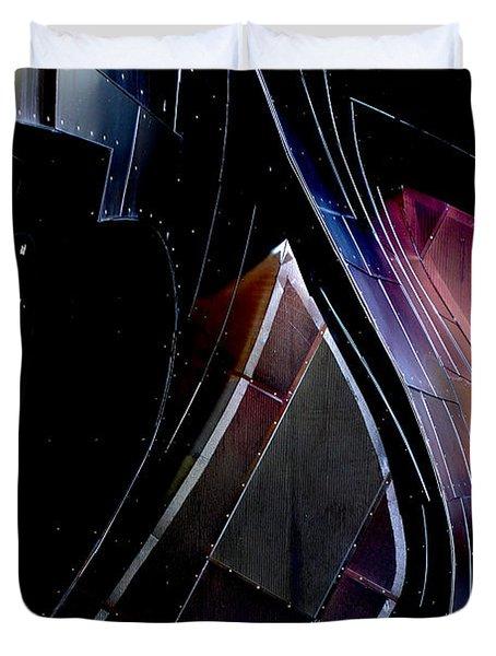 Swirling Shingles Duvet Cover by Holly Blunkall