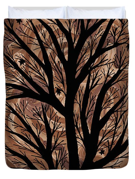 Swirling Sugar Maple Duvet Cover by Barbara St Jean