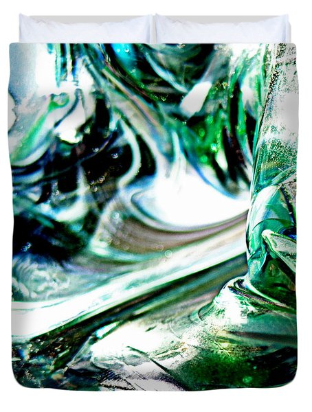 Swirls Of Color And Light II Duvet Cover by Kitrina Arbuckle