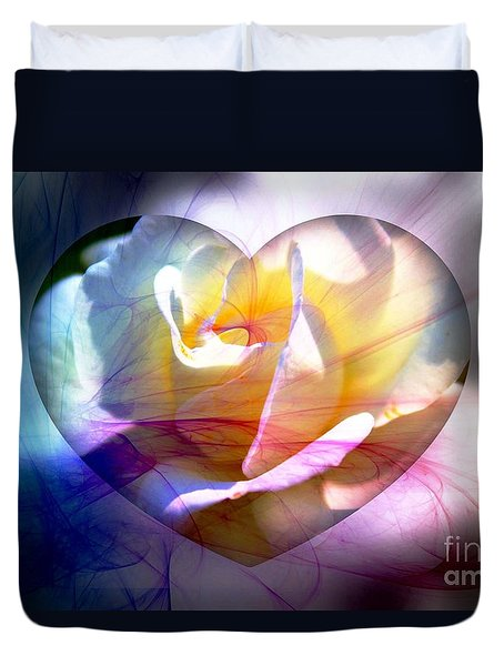 Swirls Of Love And Hope Duvet Cover
