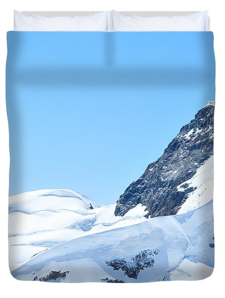 Swiss Alps Duvet Cover by Joe  Ng