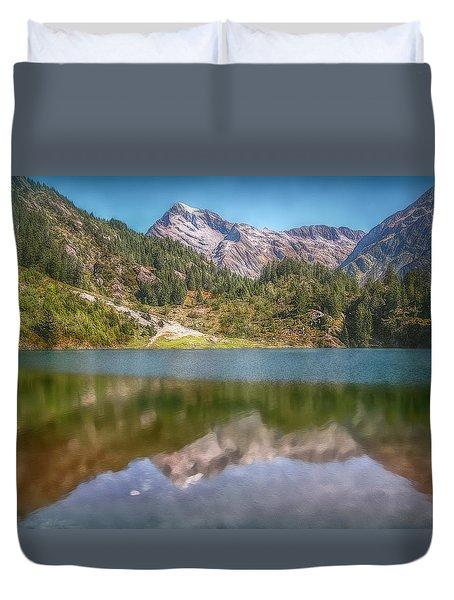 Swiss Tarn Duvet Cover