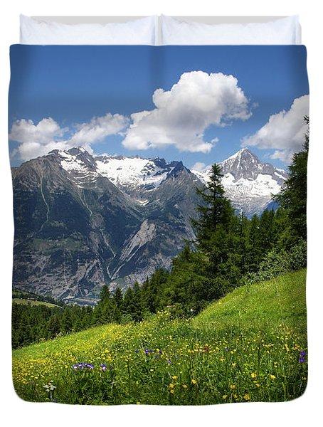 Switzerland Bietschhorn Duvet Cover
