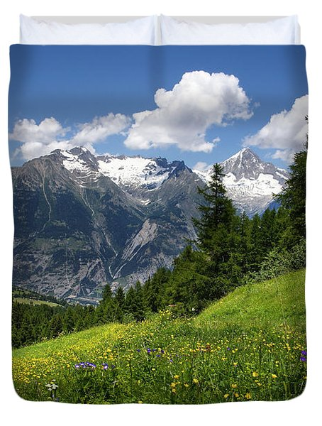 Switzerland Bietschhorn Duvet Cover by Annie Snel