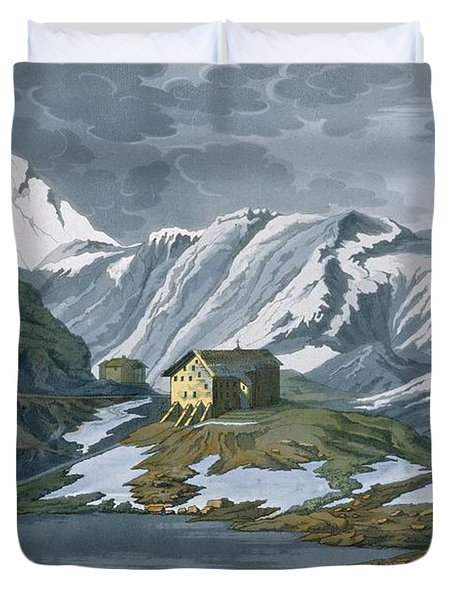 Switzerland Hospice Of St. Bernard Duvet Cover by Italian School