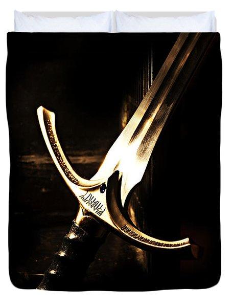 Sword Of Gandalf Duvet Cover by Christopher Gaston