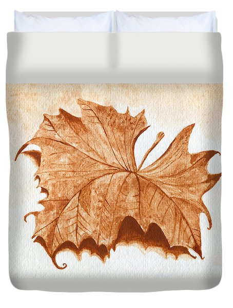 Sycamore #1 Oklahoma Red Dirt Artwork Tm Duvet Cover by Tanya Provines