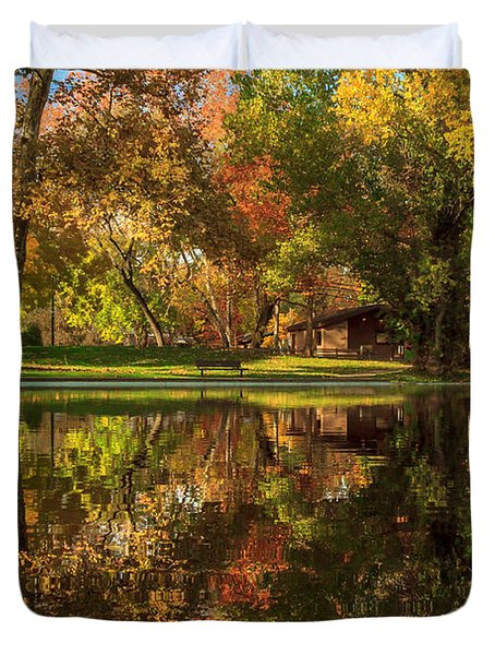 Sycamore Reflections Duvet Cover by James Eddy