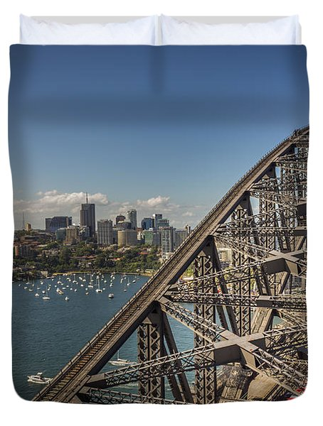 Sydney Harbour Bridge Duvet Cover by Jola Martysz