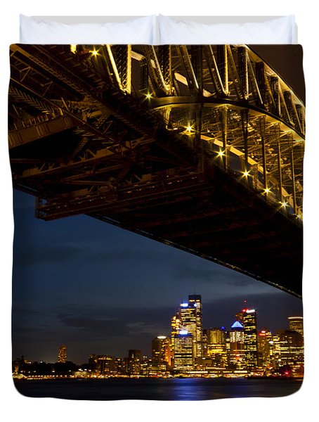 Duvet Cover featuring the photograph Sydney Harbour Bridge by Miroslava Jurcik