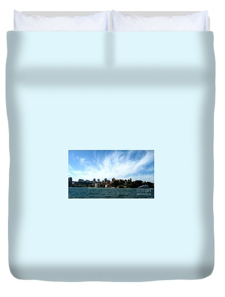 Duvet Cover featuring the photograph Sydney Harbour Sky by Leanne Seymour