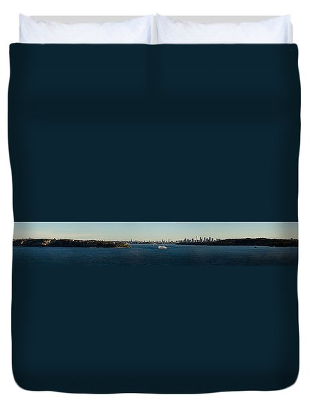Duvet Cover featuring the photograph Sydney Panorama by Miroslava Jurcik