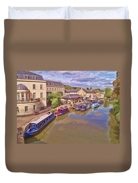 Duvet Cover featuring the photograph Sydney Wharf Bath by Paul Gulliver