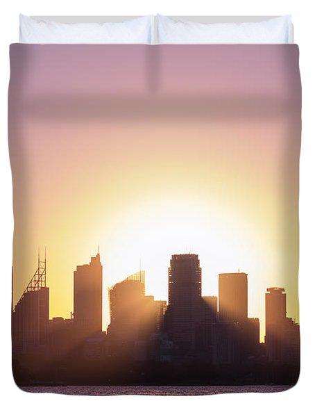 Sydney's Evening Duvet Cover