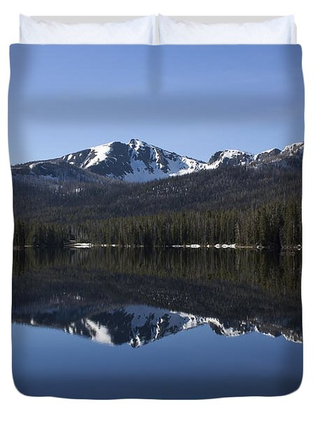 Sylvan Lake Reflection - Yellowstone Duvet Cover