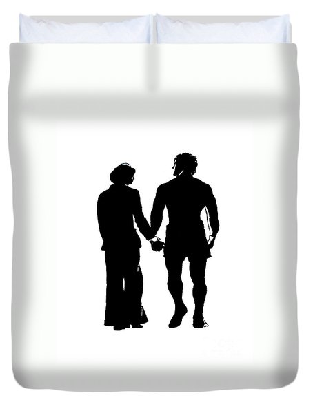 Sylvester Stallone And Talia Shire In Rocky Duvet Cover