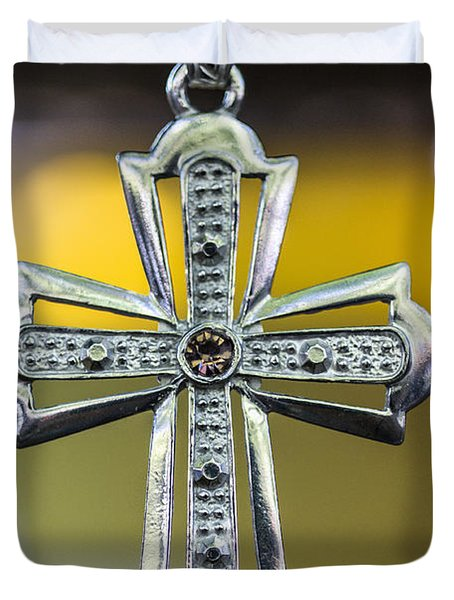 Symbol Of Faith Duvet Cover