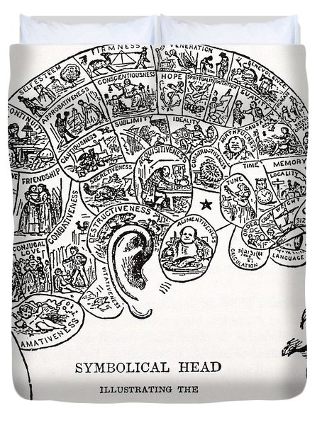 Symbolical Head Duvet Cover
