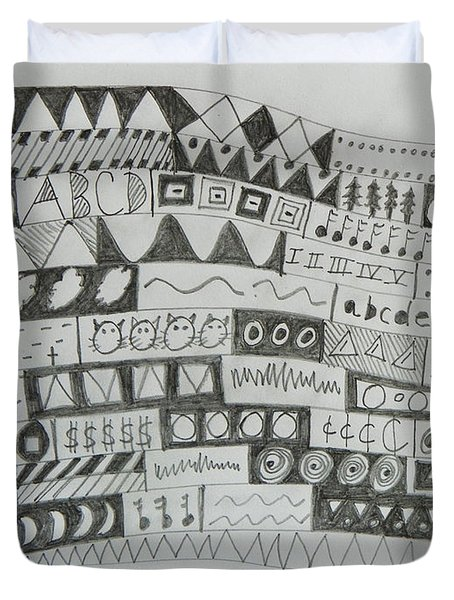 Symbols Duvet Cover by Lenore Senior