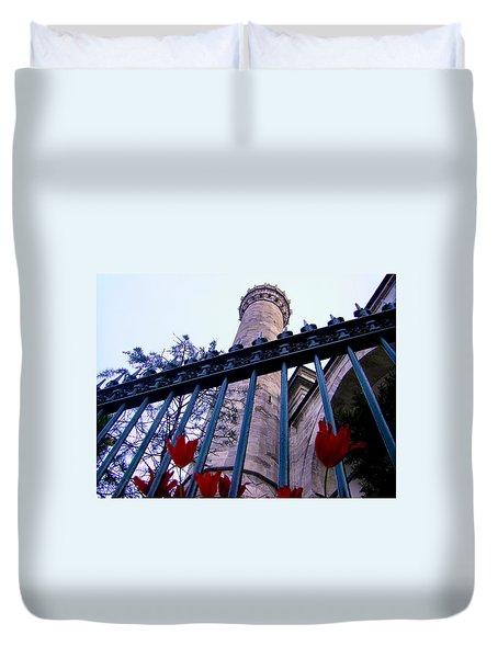 Symbols Of Istanbul Duvet Cover