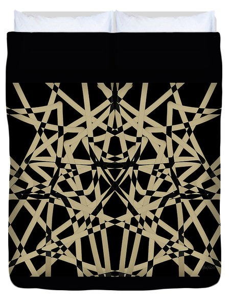 Symmetry On Black - Abstract - Art Duvet Cover