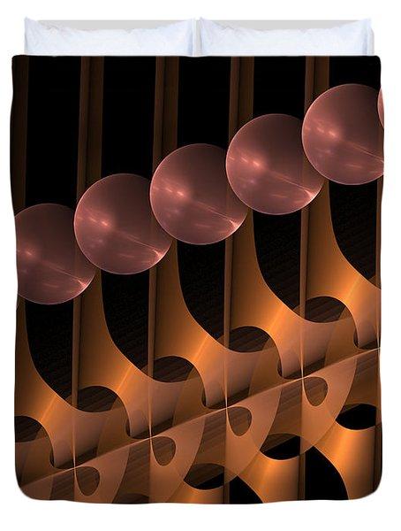 Duvet Cover featuring the digital art Symphony by Gabiw Art