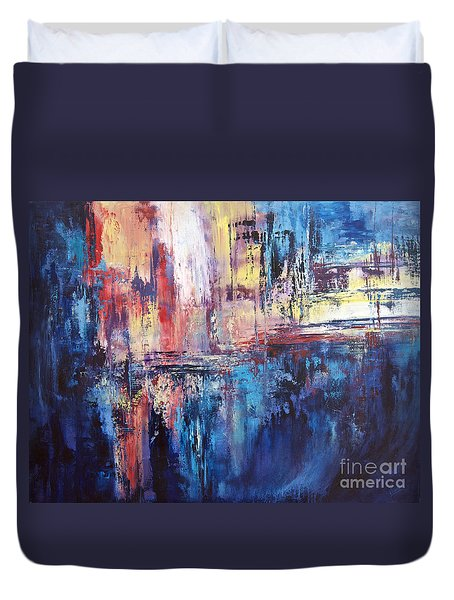 Symphony In Blue Duvet Cover