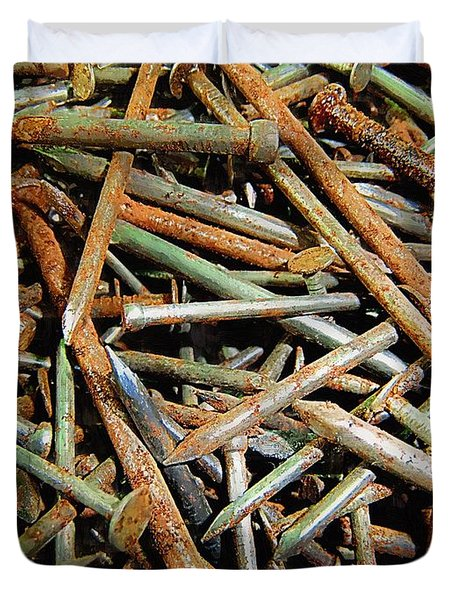 Symphony In Rusty Nails Duvet Cover by RC deWinter