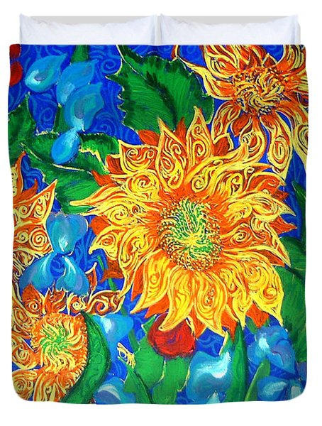 Symphony Of Sunflowers Duvet Cover