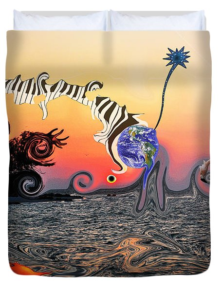 Duvet Cover featuring the photograph Synaptic Poltergeist by Amanda Vouglas