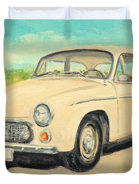 Syrena 105 - Polish Car Duvet Cover