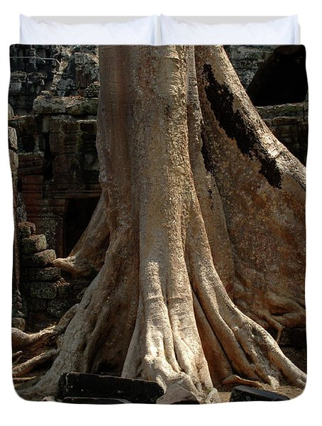 Ta Prohm Cambodia Duvet Cover by Bob Christopher
