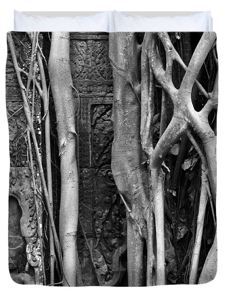 Ta Prohm Roots And Stone 09 Duvet Cover