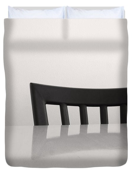 Table And Chair Duvet Cover by Don Spenner