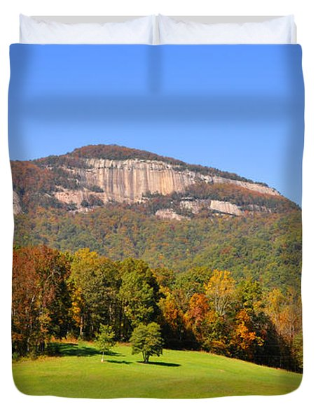 Table Rock In Autumn Duvet Cover by Lydia Holly