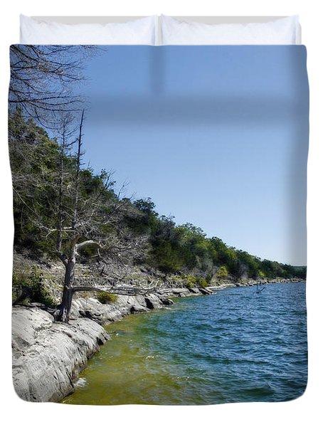 Table Rock Lake Shoreline Duvet Cover
