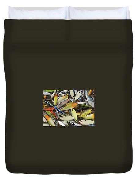 Tackle Box Tangle Duvet Cover by Jerry McElroy