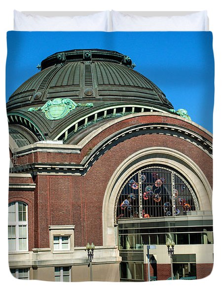Tacoma Court House At Union Station Duvet Cover