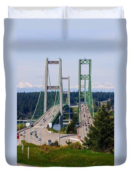 Tacoma Narrows Bridge Duvet Cover