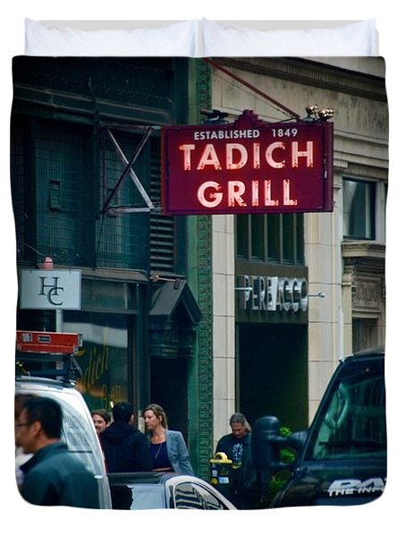 Tadich Grill Duvet Cover