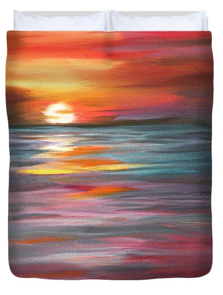 Tahitian Sunset Duvet Cover