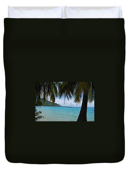 Tahitian Vista Duvet Cover