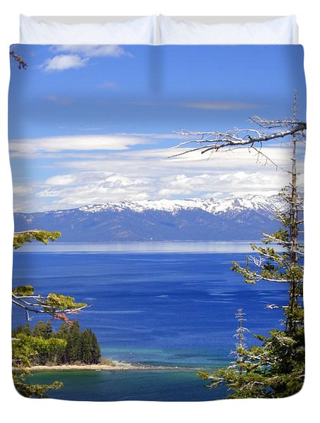 Tahoe Blue Duvet Cover