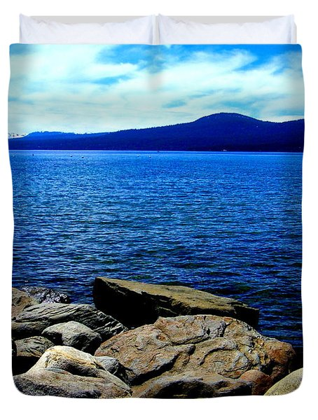Duvet Cover featuring the photograph Tahoe Magic by Bobbee Rickard