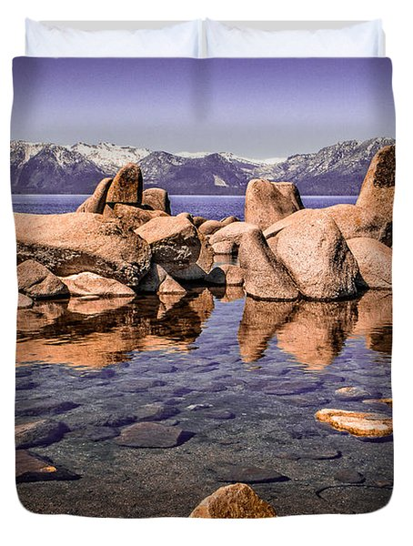 Duvet Cover featuring the photograph Tahoe Reflections by Steven Bateson