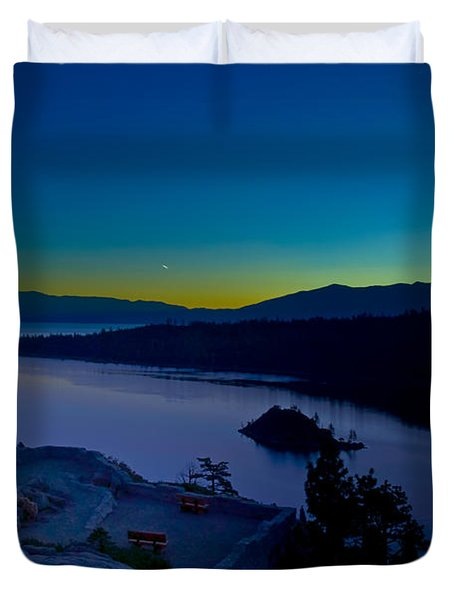 Tahoe Sunrise Duvet Cover