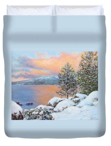 Tahoe Winter Colors Duvet Cover